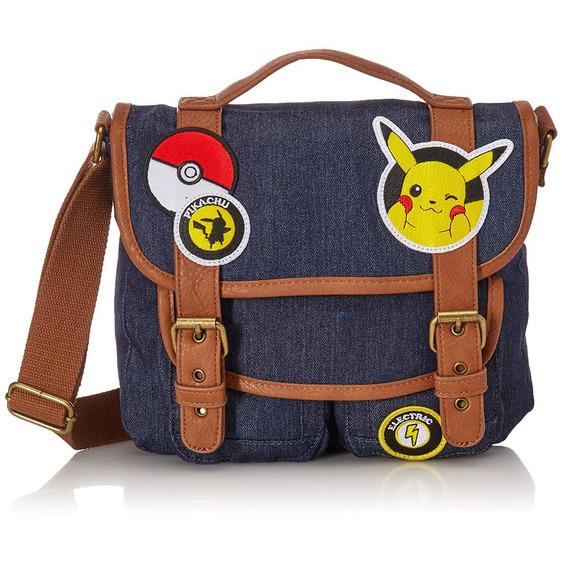 Bolsa Para Dama Crossbody Pokémon Pikachu Parches Loungefly