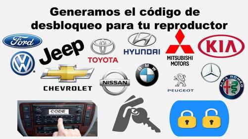 Códigos Desbloqueo Reproductor Ford,vw,jeep,dodge,(varios).