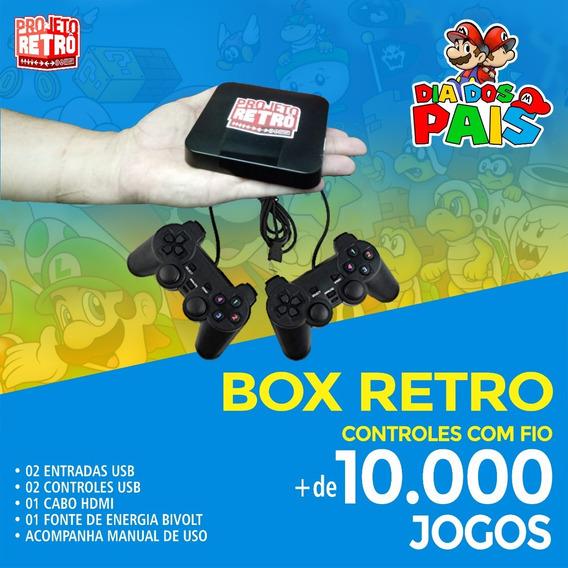 Box Retro + 10 Mil Jogos 02 Controles Usb
