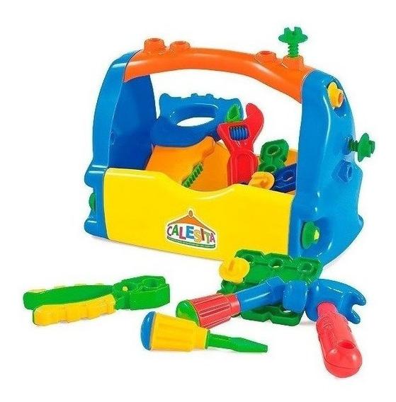 Caixa Maleta De Ferramentas Brinquedo Infantil Calesita 18pç