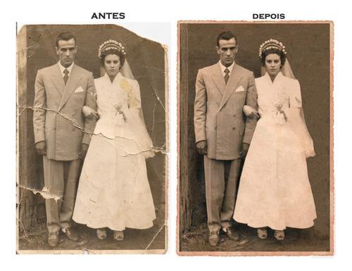 Restauração De Fotos Antigas, Danificadas Ou Rasgadas