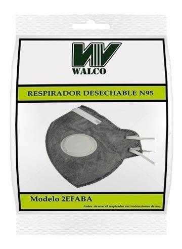 Mascarilla Descartable Con Carbon Activado Niosh N95