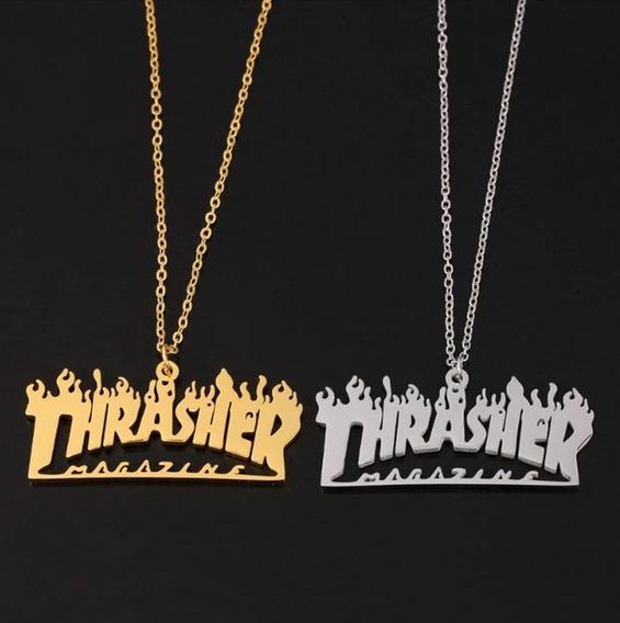 Colar Pingente Thrasher Magazine Skate Hip Hop