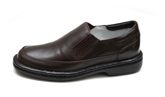 Sapato Anti Estresse Alcalay Couro Esporão Gel Anti Impacto