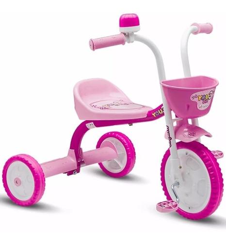 Triciclo Motoca Infantil You Girl Rosa - Nathor