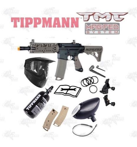 Imagen 1 de 7 de Marcadora Tippmann Tmc Magfed Tanque Hpa Careta Gotcha Xtrem