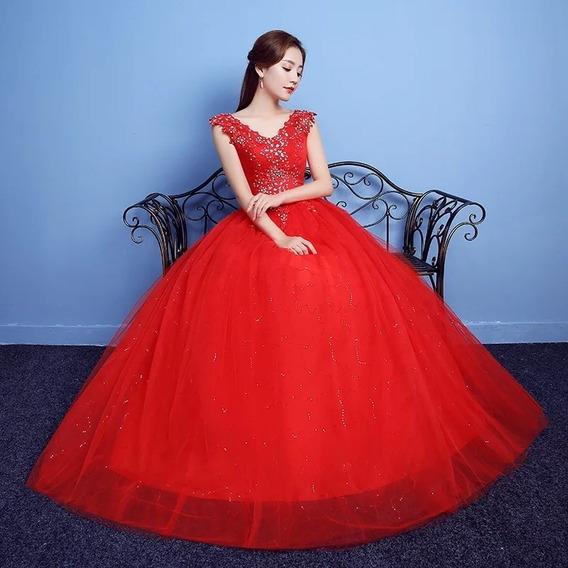 Vestido 15 Años Rojo