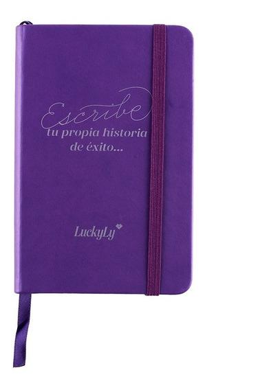 Luckyly Libreta De Bolsillo Pasta Dura Mujer, Notebook Piel