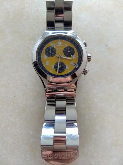 Relógio Swatch Swiss Quartz 4 Jewels Irony Crono Original