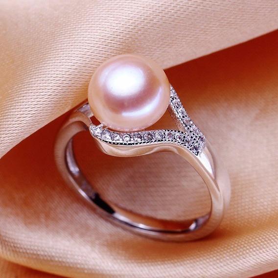 Anillo 925 Sterling Silver Con Perla