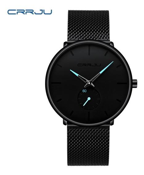 Relógio Crrju Ultra Fino Casual Luxuoso A Prova D