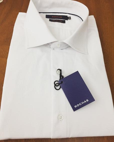 Camisa Vestir Blanca Talle Especial