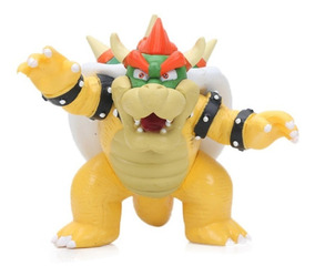 Koopa Bowser Boneco Em Pvc Action Figure Novo Super Mario