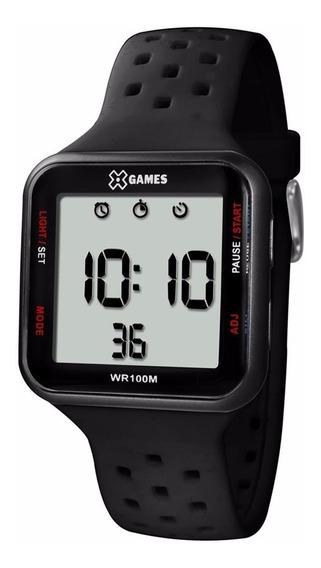 Relógio X Games Xgppd090 Bxpx Quadrado Preto Original
