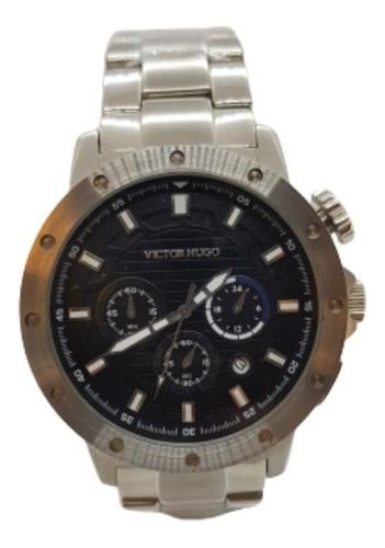 Relógio Masculino Prateado Victor Hugo  Vh10082gss/02