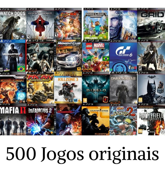 Jogos De Ps3- Pacote Com 500 Jogos Originais- Leia Descrição