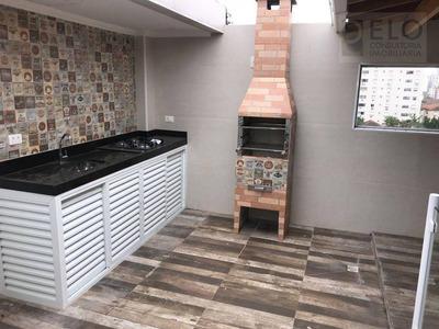 Cobertura Com 2 Dormitórios À Venda, 137 M² Por R$ 525.000 - Embaré - Santos/sp - Co0047