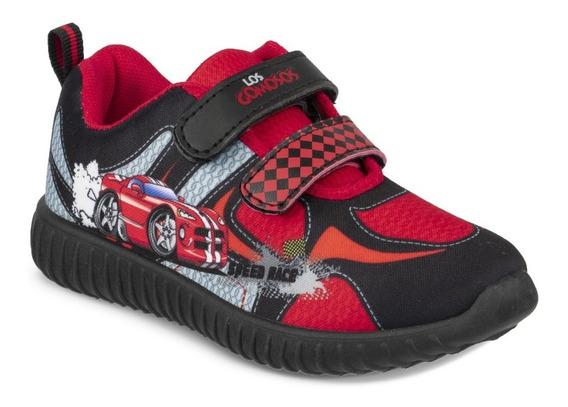 Zapato Los Gomosos Garfu Negro-rojo Para Niño