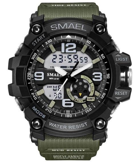 Relógio Smael Militar Digital E Analógico