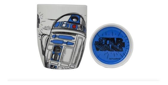 Taza Con Tapa Star Wars R2d2