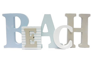 1 X Beach Word Sign Tropical Beach Decor Ideal Para Oficina