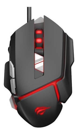 Mouse Gamer Brx-793 Luminoso 7 Botões Led Notebook Pc Preto