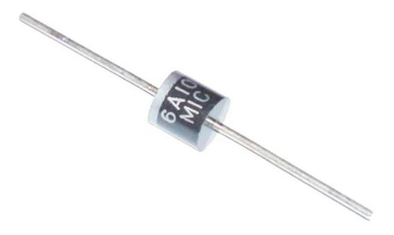 6a10 - 6a/1000v Diodo Retificador - 10 Peças
