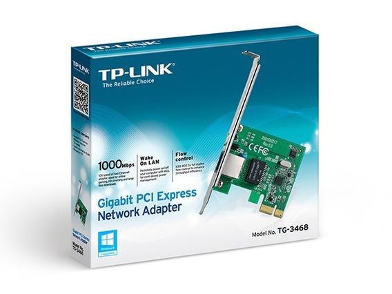 Placa Rede Pcie Mini Tplink Tg-3468 Low Profile