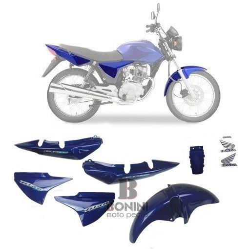 Kit Carenagem Cg 150 Ks Titan 2006 Ks 06 Azul Com Adesivo