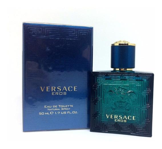 Versace Eros 50ml Masculino   Original E Lacrado + Amostra