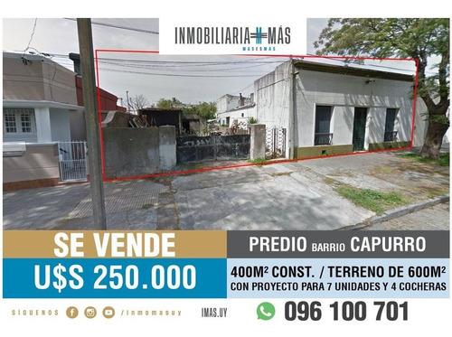 Oportunidad Venta Predio Con Proyecto Capurro Montevideo L *
