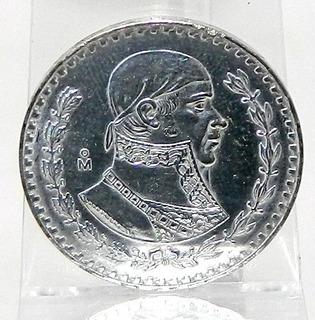 Moneda Morelos $1 Un Peso México Año 1961