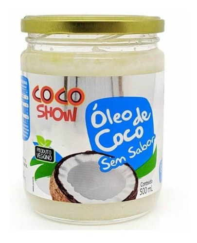 Imagem 1 de 1 de Coco Show Óleo De Coco S/ Sabor 500ml