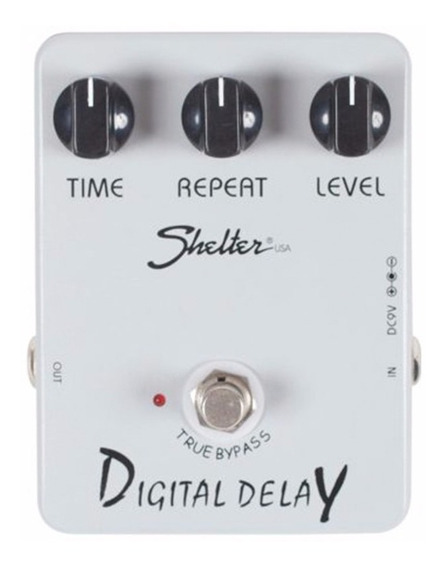 Pedal Para Guitarra Shelter Digital Delay Sdd Echo