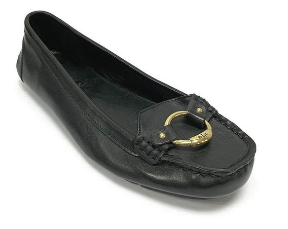 Zapatos Mocasines De Vestir Ralph Lauren Dama Negr Corpez 40