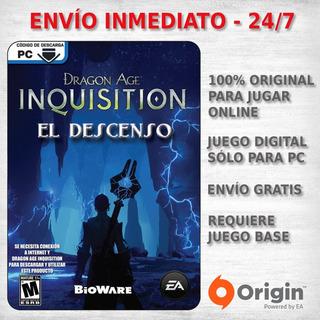 Dragon Age Inquisition Descenso Expansion Juego Pc Dlc