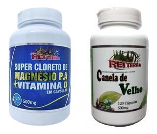 Canela De Velho + Cloreto De Magnésio P.a + Vitamina D