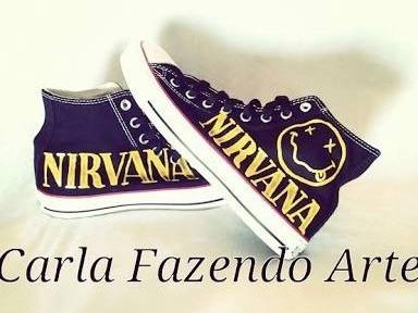 Tênis All Star Personalizado Nirvana