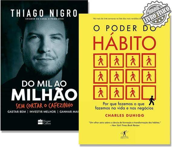 Kit Livro Do Mil Ao Milhão + Livro O Poder Do Hábito