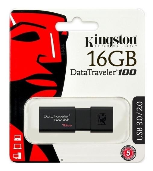 Pendrive Kingston 16 Gb Dt100 Usb 3.1 Original A1click