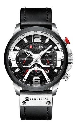Relógio Curren - Preto & Prata - Original Ultra Elegante