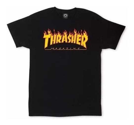 Remera Thrasher Original Hombre Mujer Manga Corta