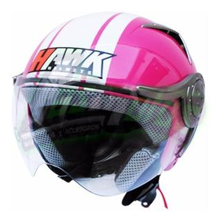 Casco Hawk Rs9 Abierto De Mujer Rosa Fucsia En Agrobikes!