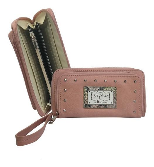 Billetera Importada Mujer Porta Celular Tarjetero Cuero Pu