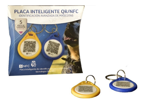 Imagen 1 de 6 de Smart Tag/placa Inteligente Qr Y Nfc Para Mascotas