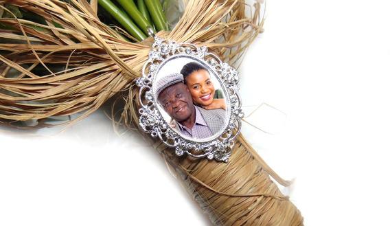 Medalha Com Foto Linda Homenagem Para Buquê De Noiva