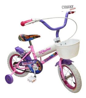Bicicleta Rodado 12 Niña Nena Ruedas C/rayo