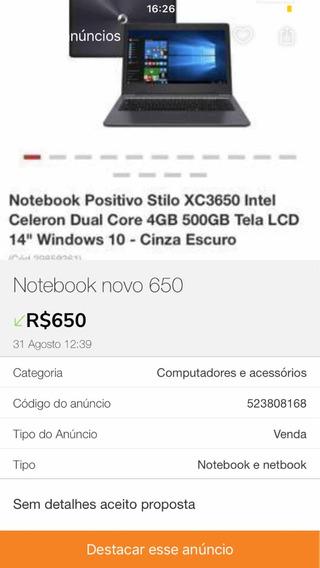 Notebook Positivo