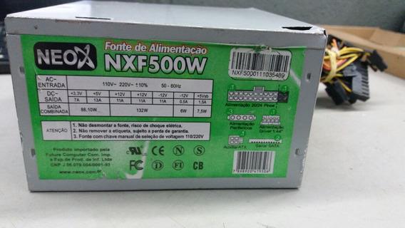 Fonte Atx Padrão 24 Pinos Neo X Modelo:nxf500w