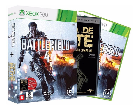 Battlefild 4 X360 + Filme Tropa De Elite - Portugues
